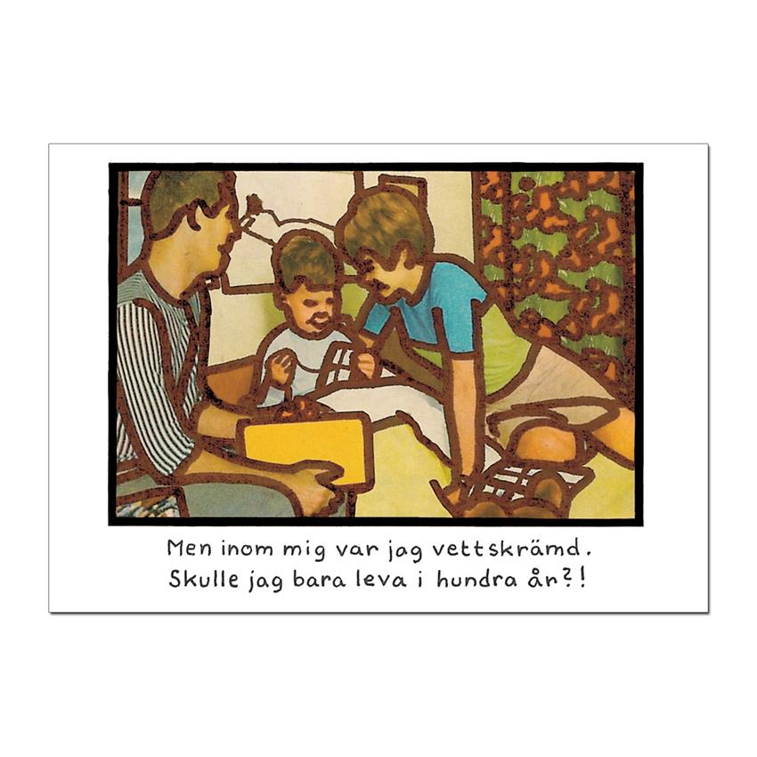 """Postcard Jan Stenmark """"Hundra år"""""""
