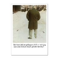 Vykort Jan Stenmark 'Gråsparv'