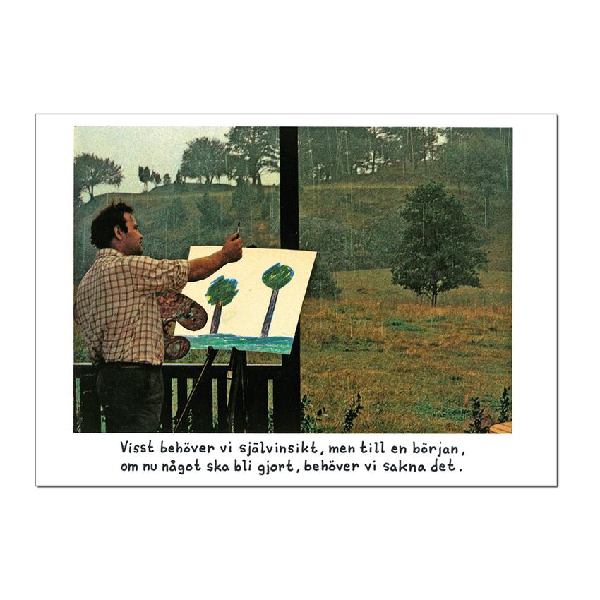 """Postcard Jan Stenmark """"Självinsikt"""""""