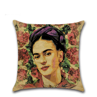 Pillow Case Frida Kahlo (roses)