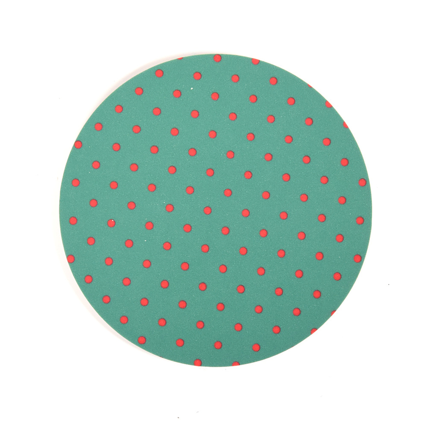 Coaster Dot round (turq./red)