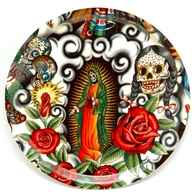 Round Tray 31 cm Mexicana Lady Guadeloupe