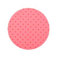 Lasinalunen Pilkku pyöreä (vaaleanpunainen)