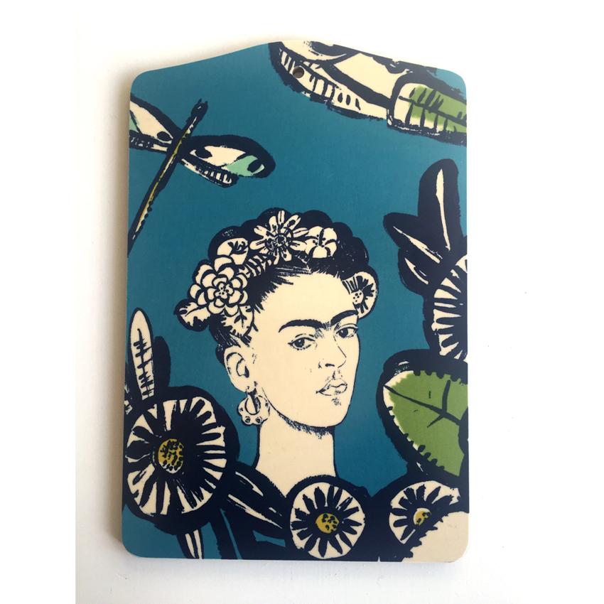 Skärbräda Frida Kahlo (blå)