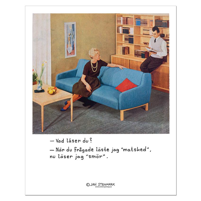 Affisch Jan Stenmark 'Läser' liten 24x30 cm