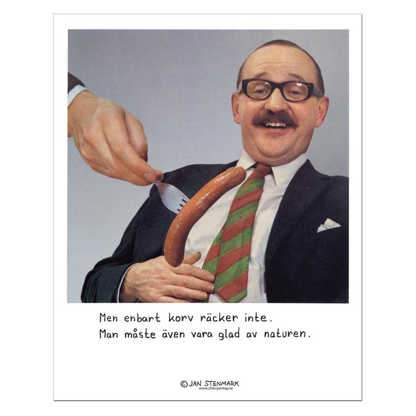 Affisch Jan Stenmark 'Korv' liten 24x30 cm
