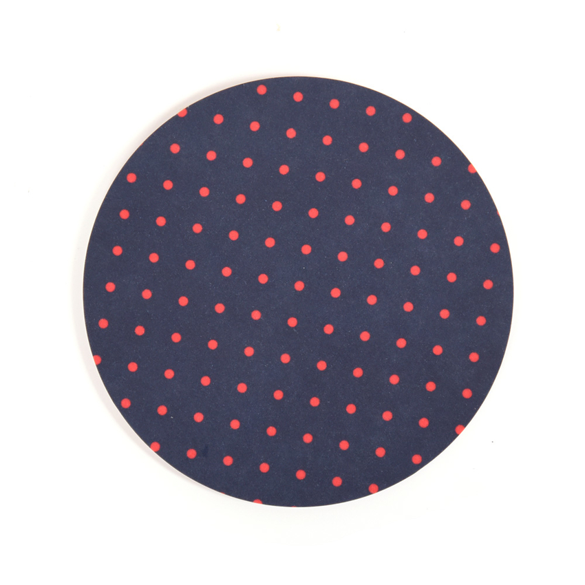 Coaster Dot round (dark blue)