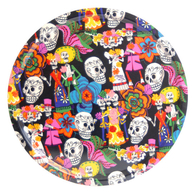 Rund Bricka 45 cm Day of the Dead (svart)