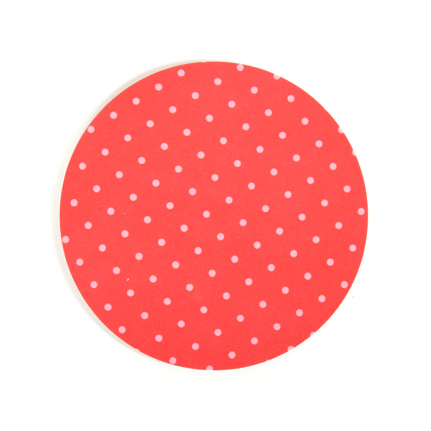 Coaster Dot round (red)