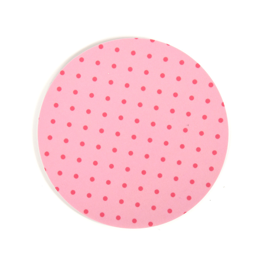 Coaster Dot round (light pink)