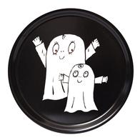 Rund Bricka 31 cm Spöket Laban (svart)