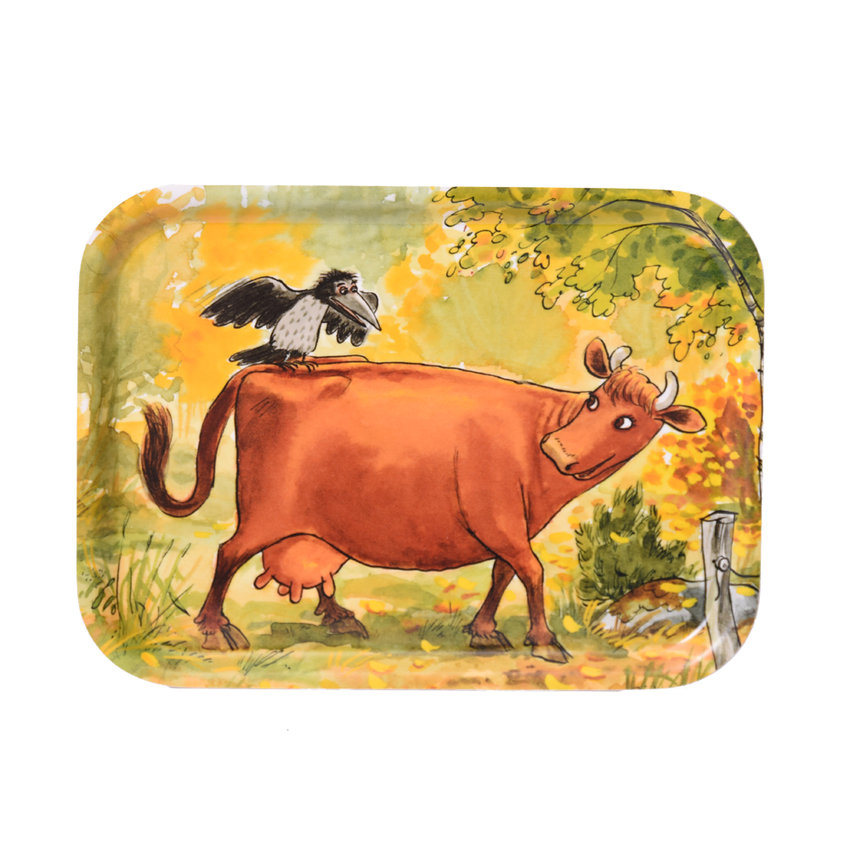 Tray 20x27 cm Mamma Moo and Crow