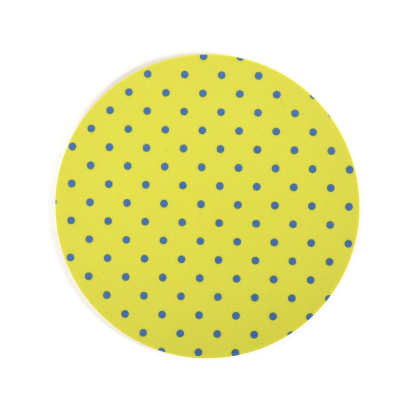 Coaster Dot round (lime)