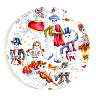 Round Tray 31 cm Cartoon skeleton