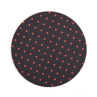 Coaster Dot round (black)