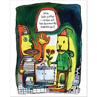 "Affisch Sara Granér 24x30 ""En ros"""