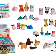 Puzzle erasers with animals