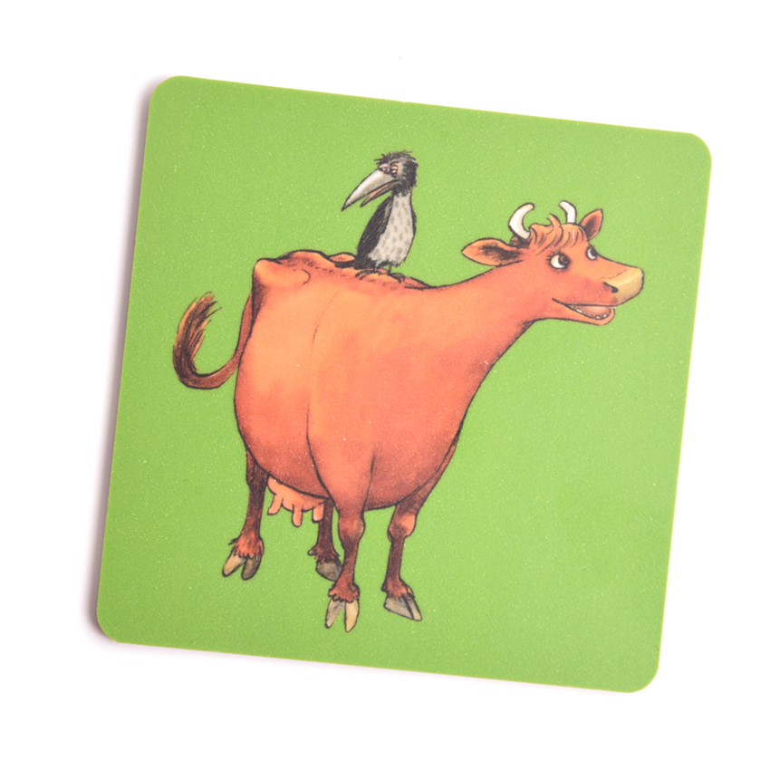 Coaster Mamma Moo and Crow (green)