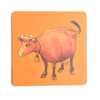 Coaster Mamma Moo (orange)