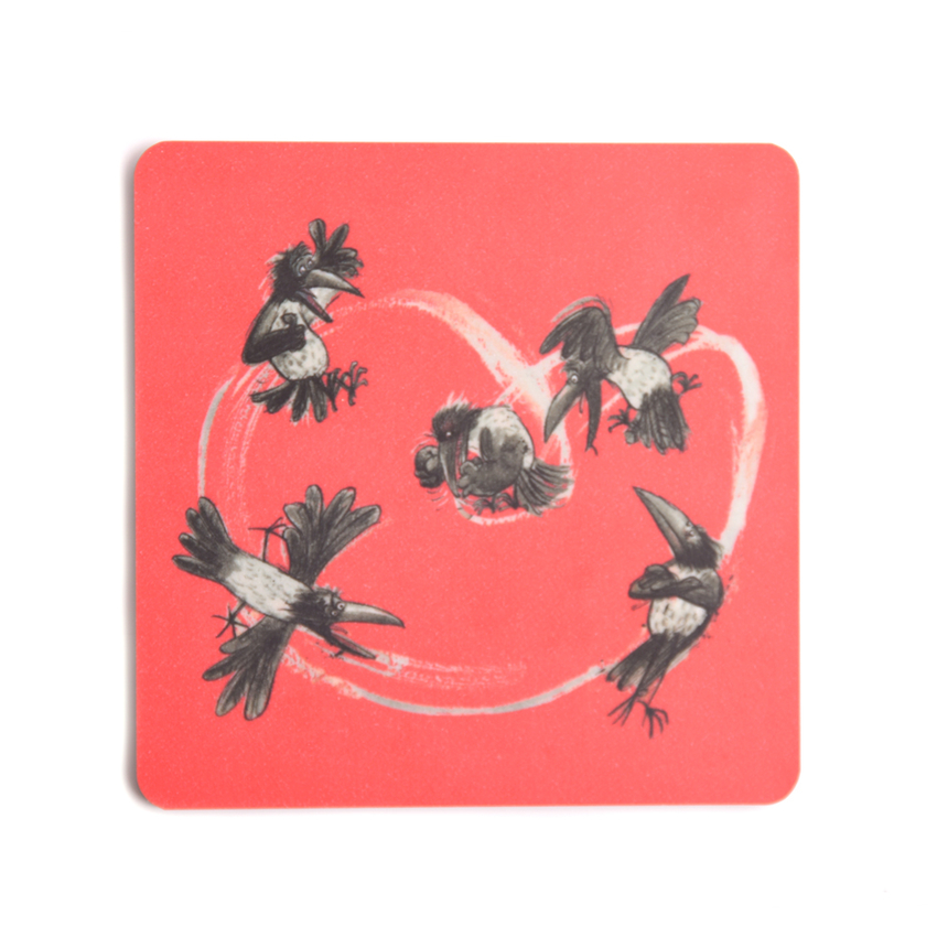 Coaster Crow (red)