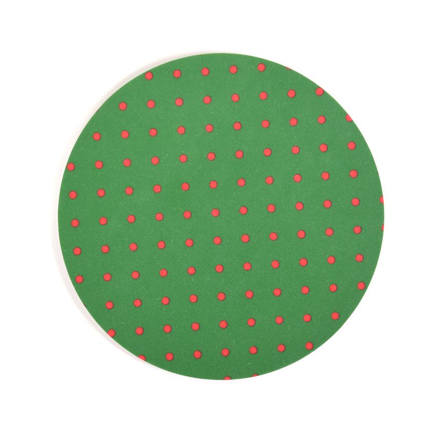 Coaster Dot round (dark green)