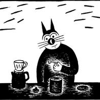 Magnet Klas Katt 'Kaffe'