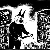 Magnet Klas Katt 'Korv'