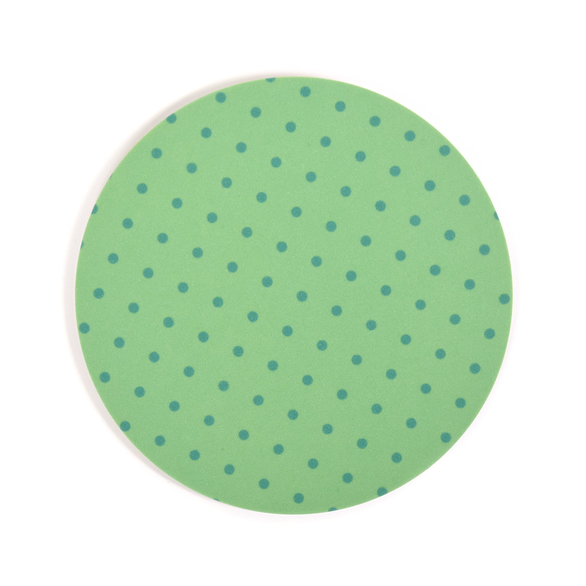 Coaster Dot round (light green)
