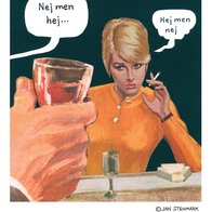 "Poster Jan Stenmark ""Hej"""
