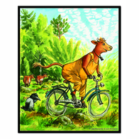 Magnet Mamma Moo, Biking