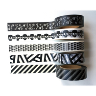 Paper tape washi, black and white