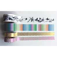 Paper tape washi, metallic and wide