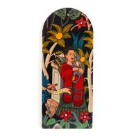 Cutting Board Frida Kahlo (black w monkey)