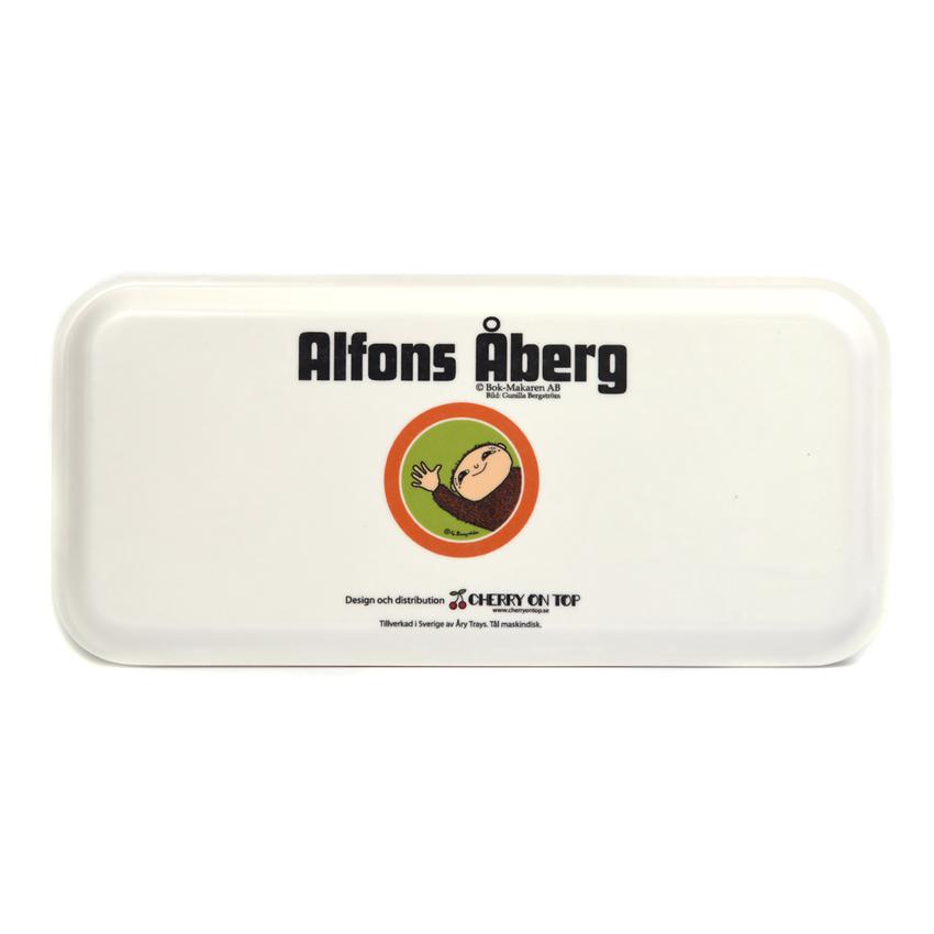 Bricka 15x32 cm Alfons Åberg, spela kort