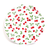 Round Tray 31 cm Cherry (white)