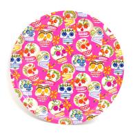 Pyöreä Tarjotin 31 cm Sugar skulls (pinkki)