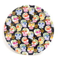 Round Tray 31 cm Sugar skulls (black)