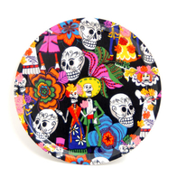 Round Tray 31 cm Day of the Dead (black)