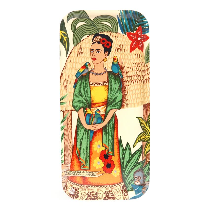 Tarjotin 32x15 cm Frida Kahlo linnut (valkoinen)