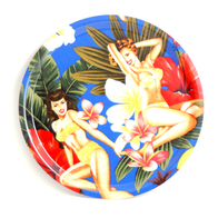 Round Tray 31 cm Pin up blue