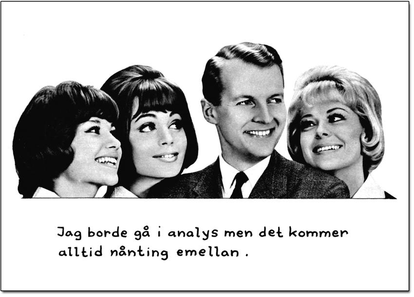 """Vykort Jan Stenmark """"Analys"""""""