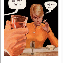 """Postcard Jan Stenmark """"Hej"""""""