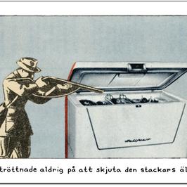 "Vykort Jan Stenmark ""Älgen"""
