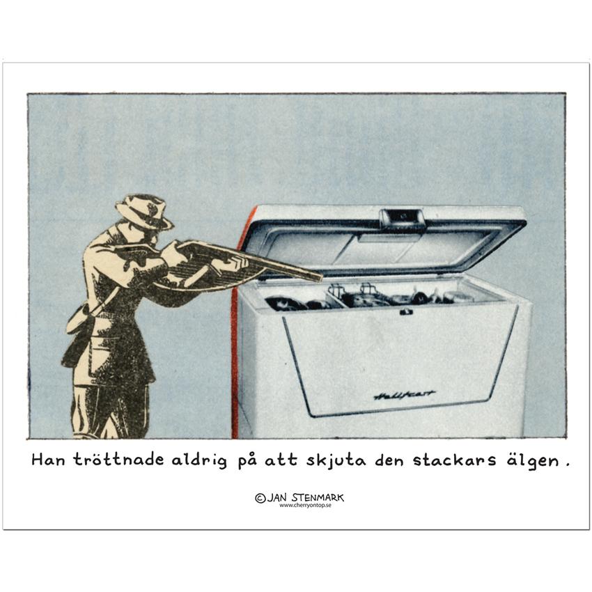 Affisch Jan Stenmark 'Älgen' liten 24x30 cm