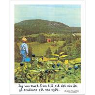 Affisch Jan Stenmark 'Blåbär' liten 24x30 cm