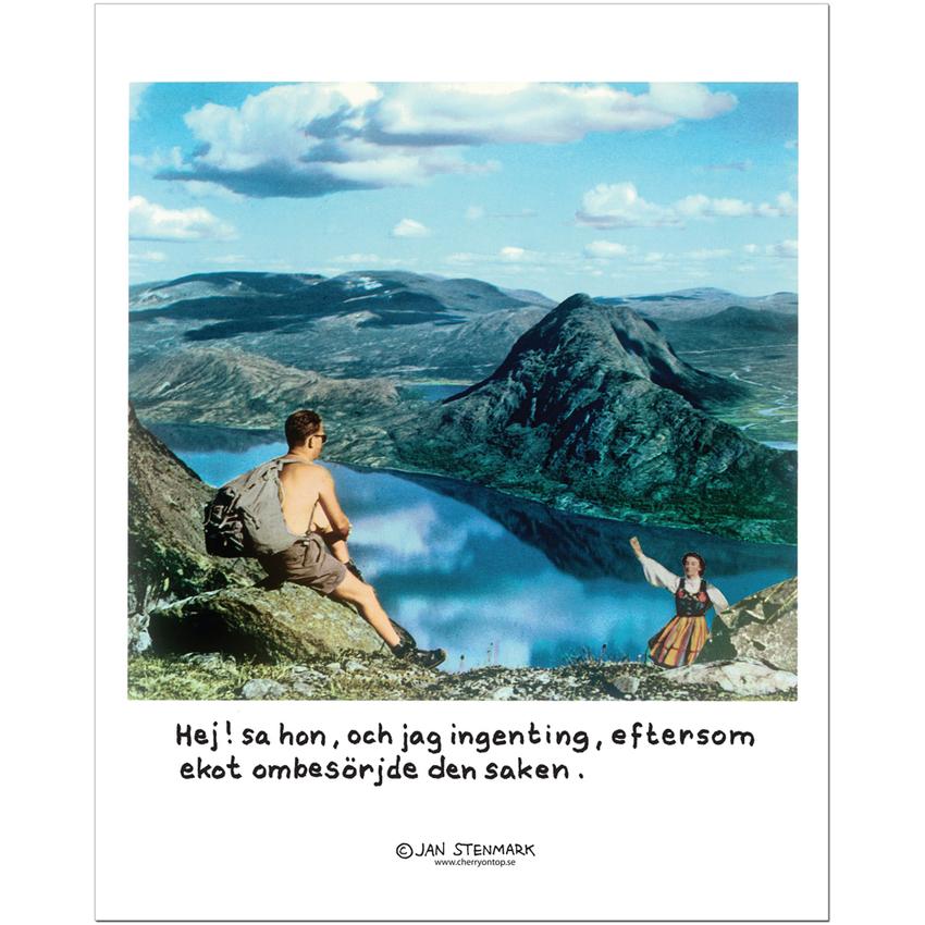 """Affisch Jan Stenmark """"Ekot"""" pieni 24x30 cm"""