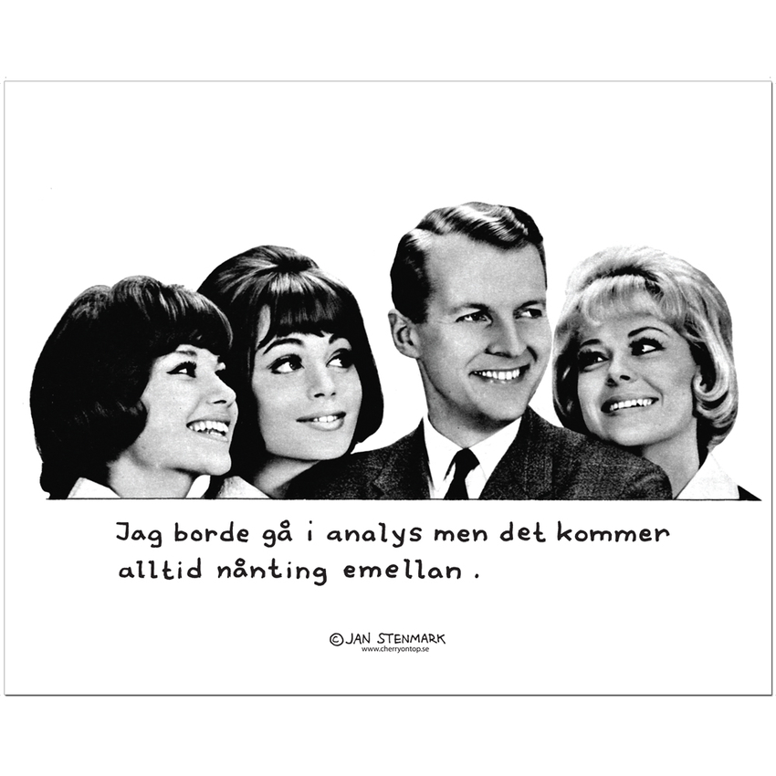 "Poster Jan Stenmark ""Analys"" small 24x30 cm"