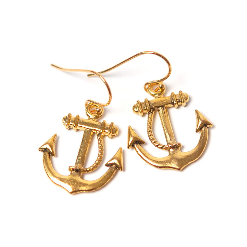 Earrings Anchor (gold)