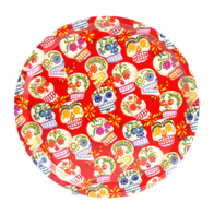 Round Tray 31 cm Sugar skulls (red)