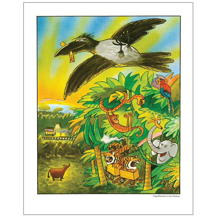Affisch Mamma Mu 50x70 cm, viidakko